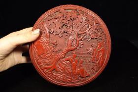 剔紅漆器盒子,480