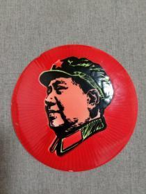文革毛主席像章(搪瓷)直径12厘米
