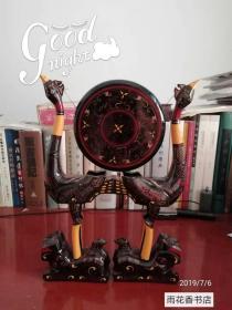 楚文化漆器艺术品--  虎座鸟架鼓