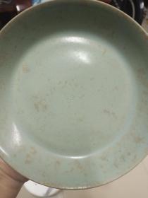 汝窖老瓷器瓷盘家藏老物品处理变现