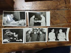 朱德新闻照片——5张合售