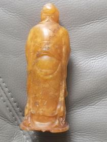 寿山石坑头田 孔子雕像钮印章