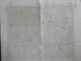 《徐州   东亚五十万分之一图》  46*58cm