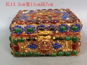 乡下收的清代镶嵌宝石盒