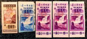 贵州省布票1973三种,共5枚