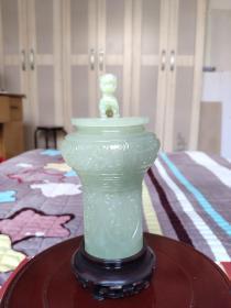 岫岩玉岫玉香炉香薰炉花瓶香盒茶叶罐