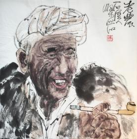 ◆【顺丰包邮】【梁岩】中国美术家协会会员、国家一级美术师、手绘四尺斗方人物画(69*69CM)★1买家自鉴.