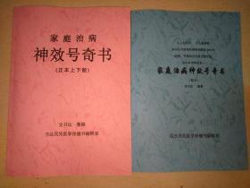家庭治病神效号奇书(正本上下册合印,副本一册)