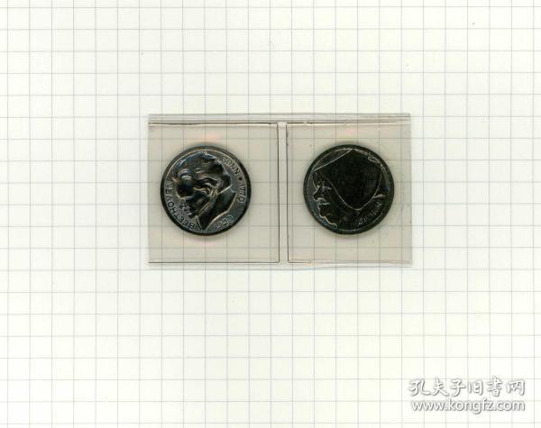 闲山集辅币推荐—— 德国紧急时期1920年人像铁币2枚(永久保真)