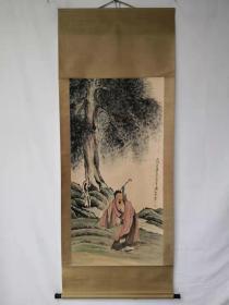 字画收藏仿古人物画大四尺中堂画手绘画画工精细072911T