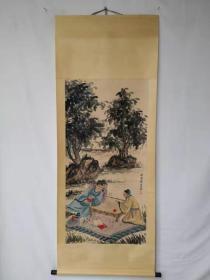 字画收藏仿古人物画大四尺中堂画手绘画画工精细072910T