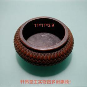 古色古香、芦席纹、红木 老笔洗/水盂/香炉