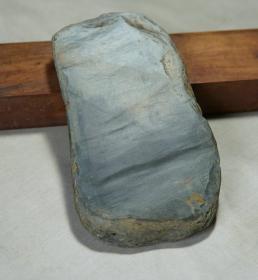 歙砚老坑极品砚料   眉纹子石  一件