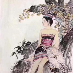 黄志松  68*68cm 人物7