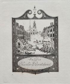 """""""美国藏书票黄金时期五大家""""—  史密斯(Sidney L. Smith)铜版藏书票 1904怀旧作品"""