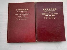 两本建国初胶皮硬精装【局部解剖学图解】外科书。(放铁柜)
