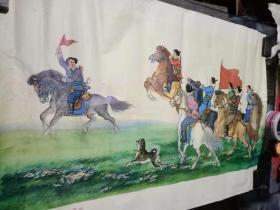 70年代宣传画刘生展作草原女民兵