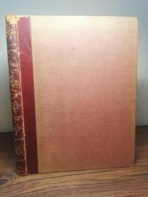 约1892年   Unommercial Traveller - Illustrated by E.G. Dalziel   含26副插图  皮脊  有一副精美藏书票  25cm x 19 cm