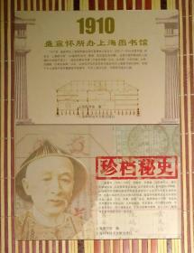《1910盛宣怀所办上海图书馆》与《珍档秘史》明信片二套22张
