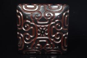 剃犀云雕印章方盒,工藝精美,2200