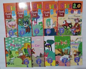 布朗儿童英语 kids2.0 Brown Level Two 6-10卷共10册 含5张光盘