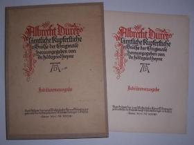 稀缺《 丢勒的版画集》106幅刻板画插图, 1928年出版,45x34cm