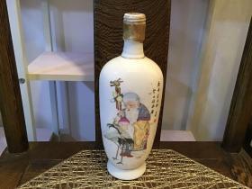 寿星剑南春酒瓶(次品,有一些裂痕)