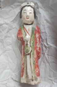 山西地方瓷器--唐代----《长治县红绿彩仕女》--------虒人荣誉珍藏