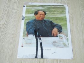 八开宣传画:毛主席在北京
