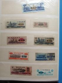 七十年代壹市两粮票8种,合售