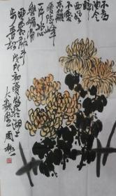 周彬,秋菊图,保真