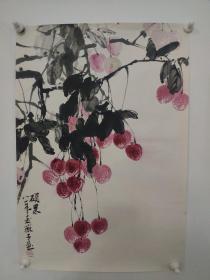 广州著名画家,麦薇子,国画精品一副(保真)