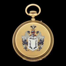 今日尖货 古董珐琅怀表,18k黄金材质,表径52毫米,三开门表壳,微绘珐琅图案,瓷面无裂,重118克,收藏品,已到国内,现货直发