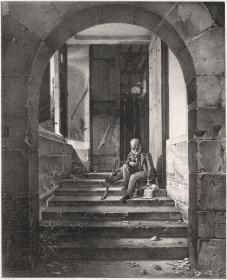 1822年石版画《雕塑家工作室楼梯的景象》(特藏本)
