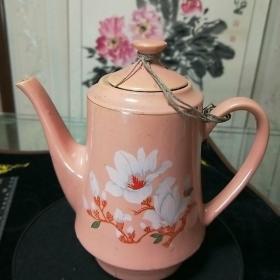 老茶壶,文革时期茶壶,手绘兰花图,尺寸看图。