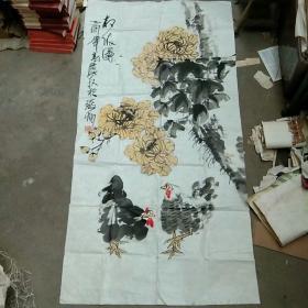 安徽萧县著名画家(葛庆友)国画软片