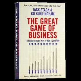 伟大的商业游戏 英文原版 The Great Game of Business 经济金融