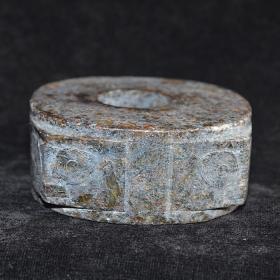 良渚老玉琮摆件 古董玉器老物件 高古收藏