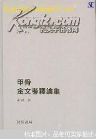 甲骨金文考释论集  中国语言文字研究丛刊