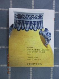 CHRISTIE'S   NEW  YORK  FINE  CHINESE  CERAMICS  AND  WORKS  OF  ART  PART  I  21-22  MARCH  2013