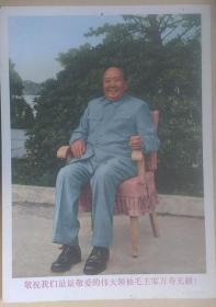 """文革时期上海人美出版""""敬祝我们最最敬爱的伟大领袖毛主席万寿无疆""""胶木板画像(挂画)"""