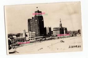 民国时期 老照片 照片可见上海国际饭店 上海大光明  西侨青年会大楼(现为体育大厦)以及上海跑马场赛道