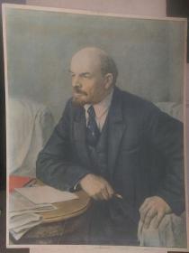 """上世纪六十年代""""伟大的导师-列宁思考革命之路""""胶木板画像(稀有少见品)"""