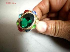 清代天然蓝宝石戒指368