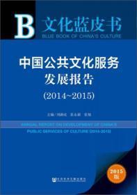 文化蓝皮书 中国公共文化服务发展报告