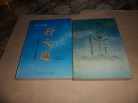 【大道行+《大道行》姊妹篇-行大道 (全2册)】访孤独居士王力平先生/审定  两册合售