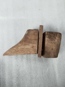 清代三寸金莲小脚鞋木质模具,14*6