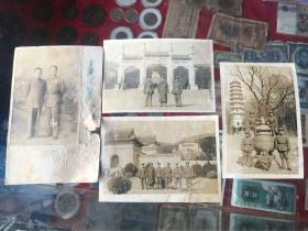 民国国军照片两张摄影中山陵一张摄影灵古寺