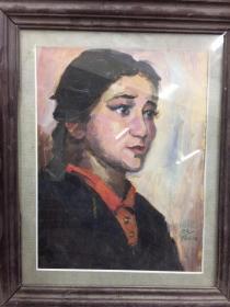 靳尚谊(款)人物油画