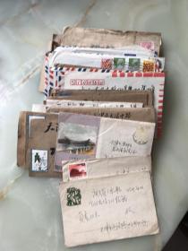 ——-天津市老干部张伯坚收藏的老实寄封四十多个———百分之九十五都带信,!